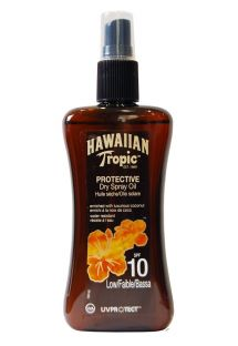 HAWAIIAN TROPIC BRONZING OIL - Spray 200ml SPF 10